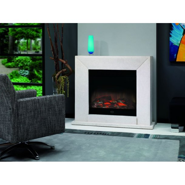 Electric Fire Nero - Fossil Stone (marmor-look)