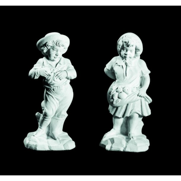 Figurer i marmor, dreng og pige (sæt) - 70 cm