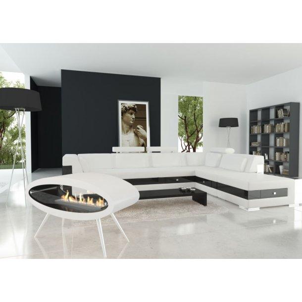 Ellipse Floor - hvid/sort